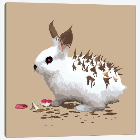 The Bunny Who Wanted To Be A Hedgehog Canvas Print #CMO13} by Carl Moore Canvas Artwork