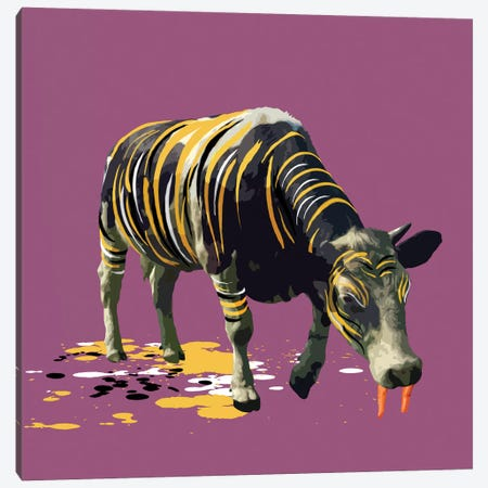 The Cow Who Wanted To Be A Tiger Canvas Print #CMO15} by Carl Moore Canvas Art Print