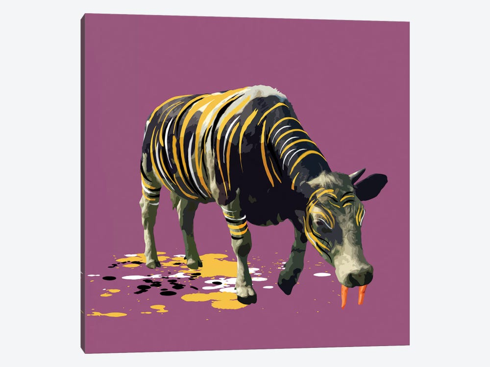 The Cow Who Wanted To Be A Tiger by Carl Moore 1-piece Canvas Artwork