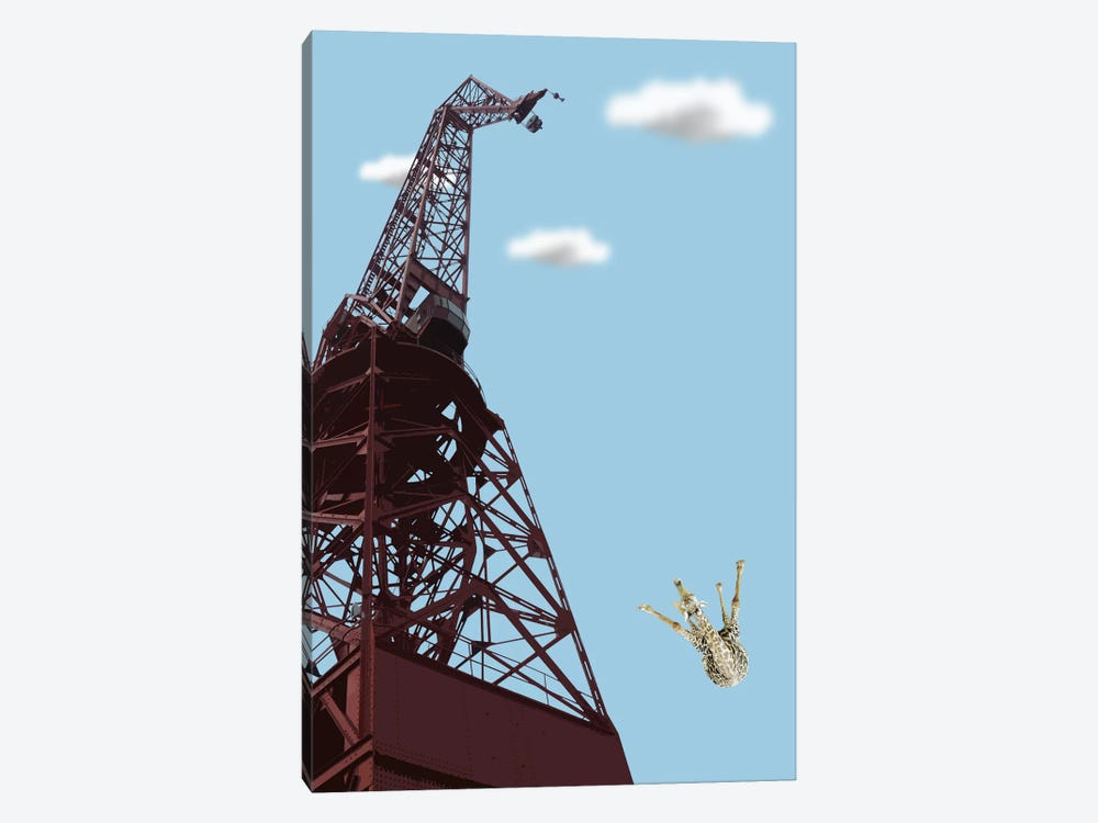 Giraffe Suicide by Carl Moore 1-piece Canvas Art