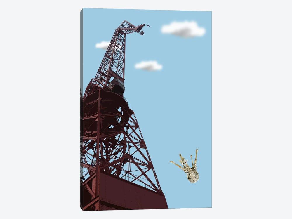 Giraffe Suicide by Carl Moore 1-piece Canvas Art