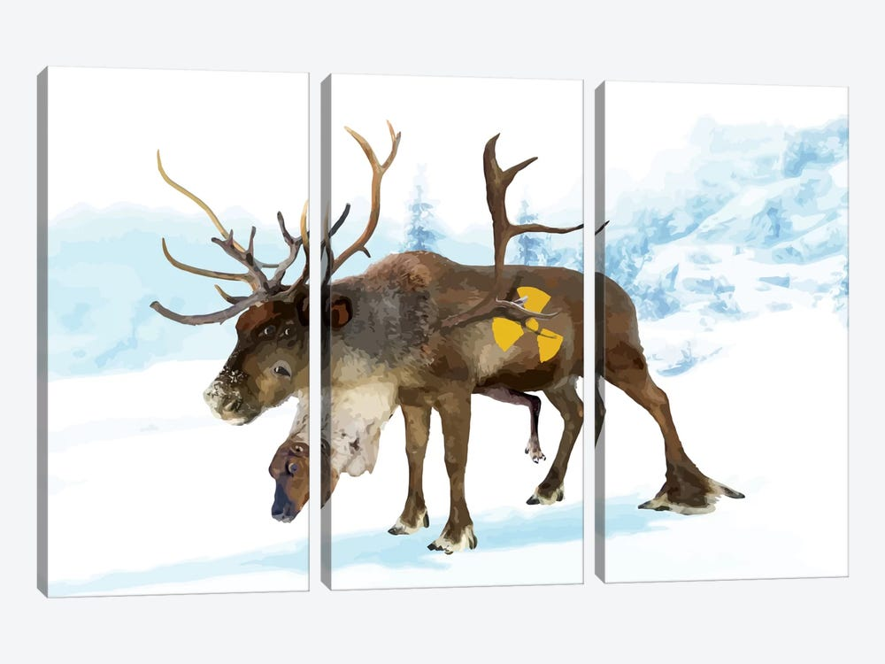 Irradiated Reindeer by Carl Moore 3-piece Art Print