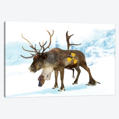 Irradiated Reindeer Canvas Print #CMO18} by Carl Moore Canvas Artwork