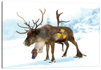 Irradiated Reindeer Canvas Art Print