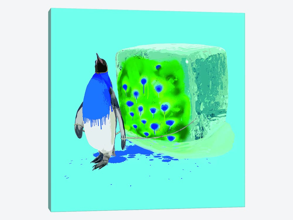 The Penguin Who Wanted To Be A Peacock by Carl Moore 1-piece Canvas Wall Art
