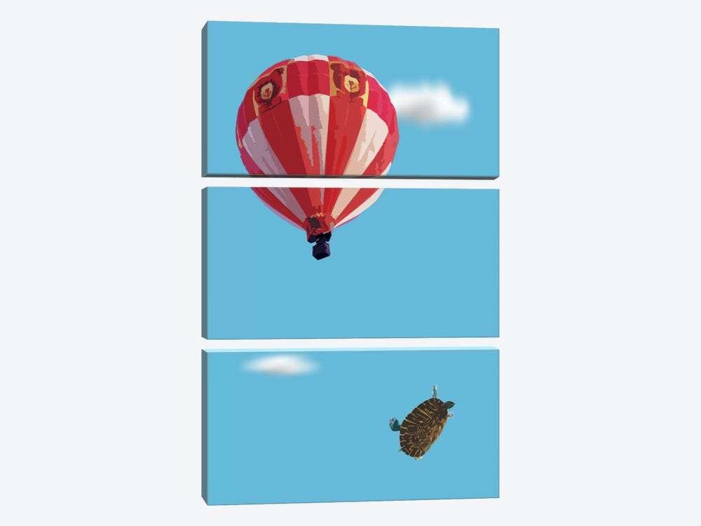 Turtle Drop by Carl Moore 3-piece Canvas Art Print
