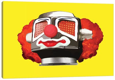 Clownbot Canvas Art Print