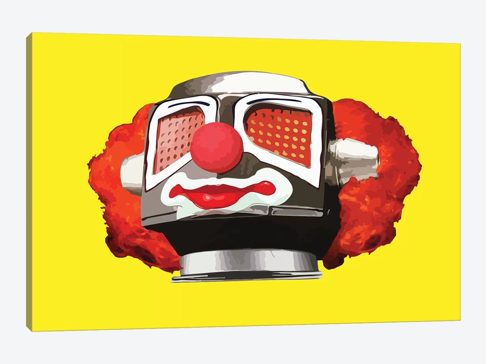 Clownbot by Carl Moore 1-piece Canvas Art