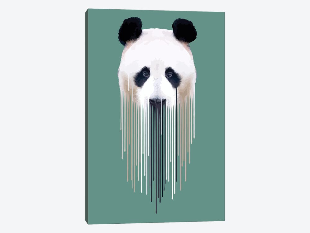 Dripsters Series: Panda Face by Carl Moore 1-piece Art Print