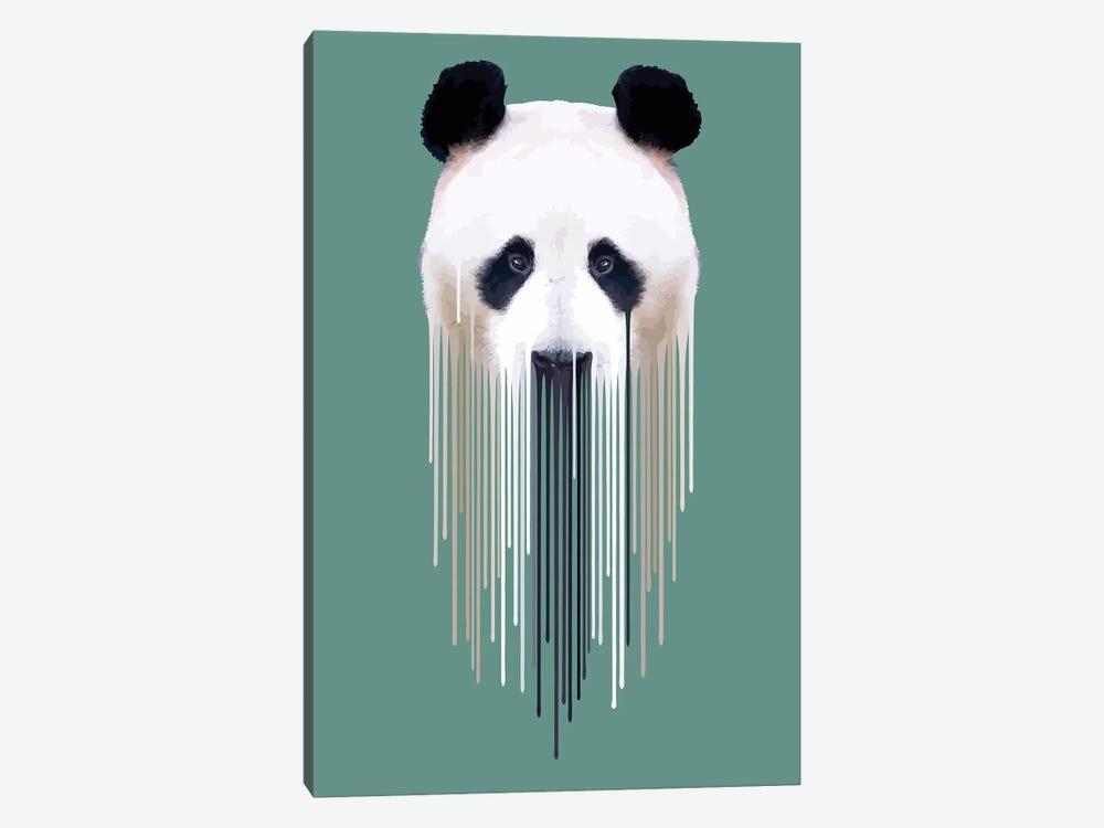 Panda Face by Carl Moore 1-piece Art Print