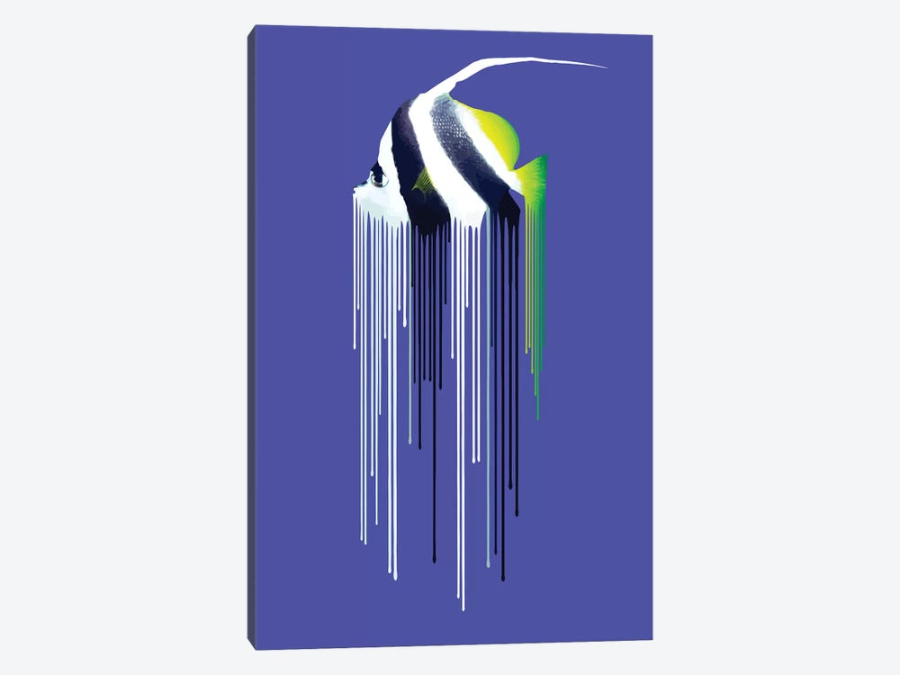 Bannerfish by Carl Moore 1-piece Canvas Wall Art