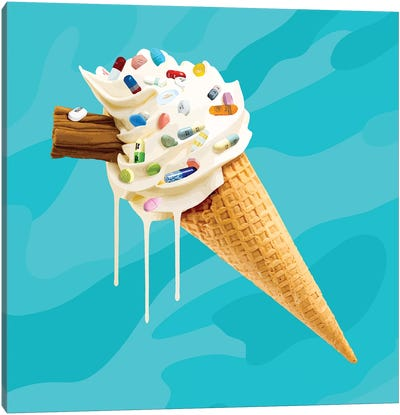 Ice Cream Cocktail Glory Canvas Art Print