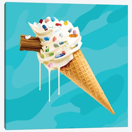 Ice Cream Cocktail Glory 3-Piece Canvas #CMO30} by Carl Moore Canvas Artwork
