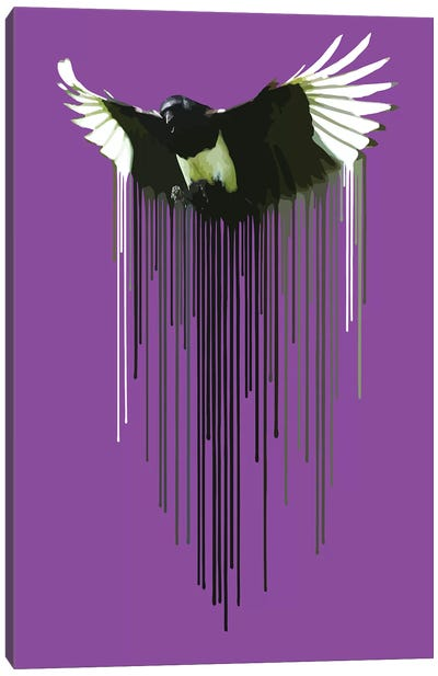 Magpie Canvas Art Print