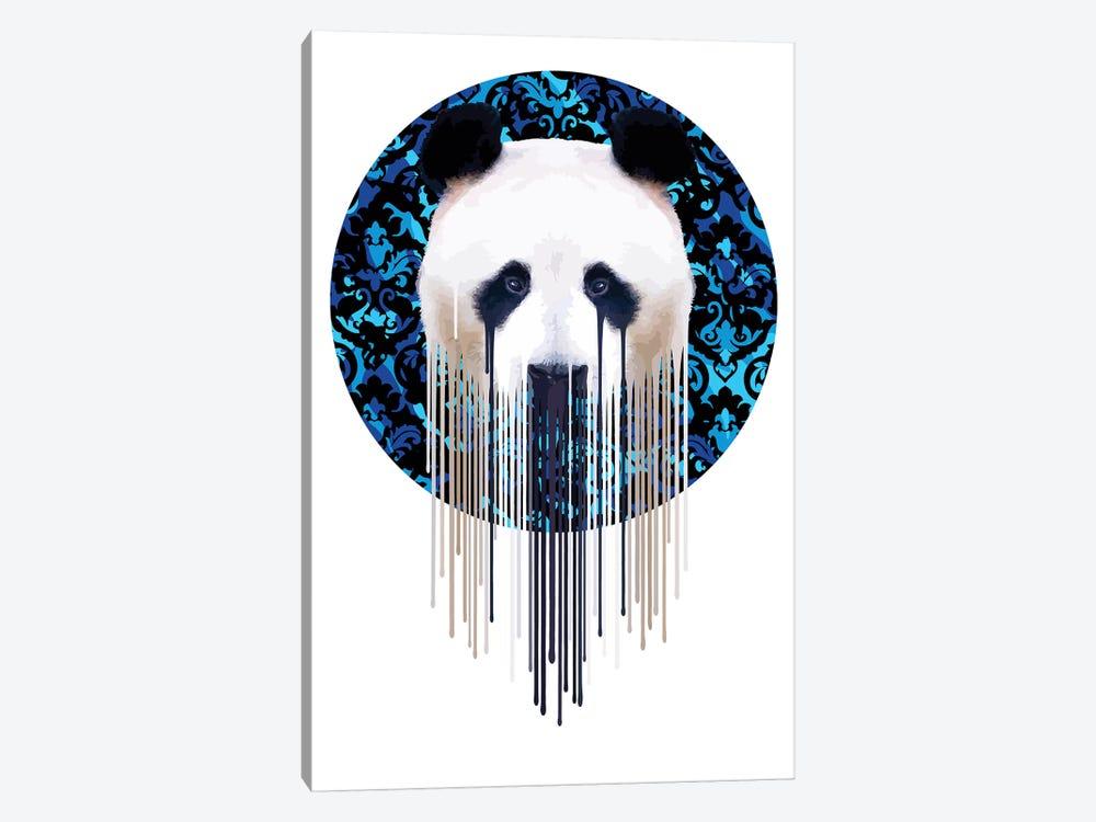 Panda Dazzle Blue by Carl Moore 1-piece Canvas Art