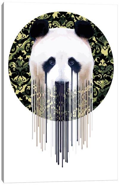 Panda Dazzle Green Canvas Art Print