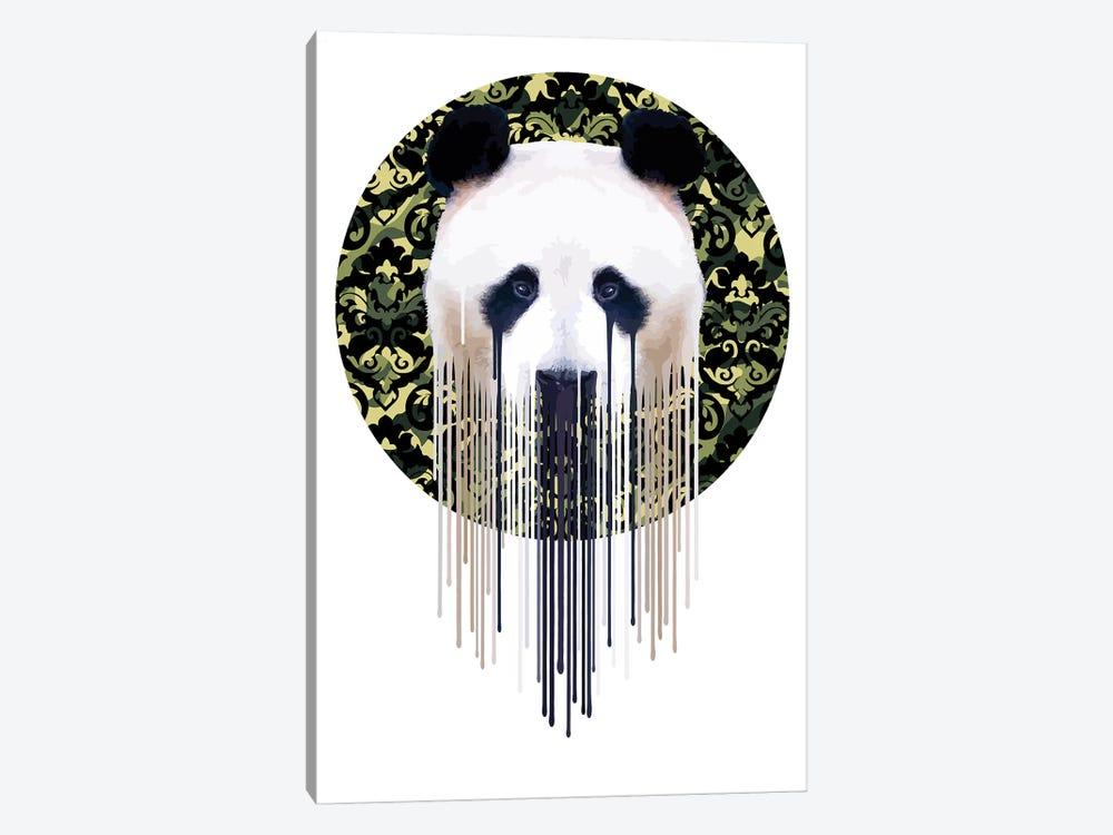Panda Dazzle Green by Carl Moore 1-piece Art Print