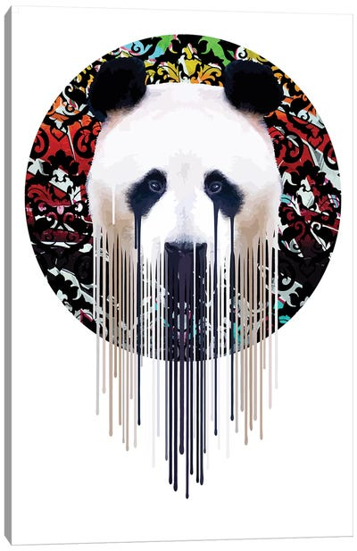 Panda Graf' Canvas Art Print