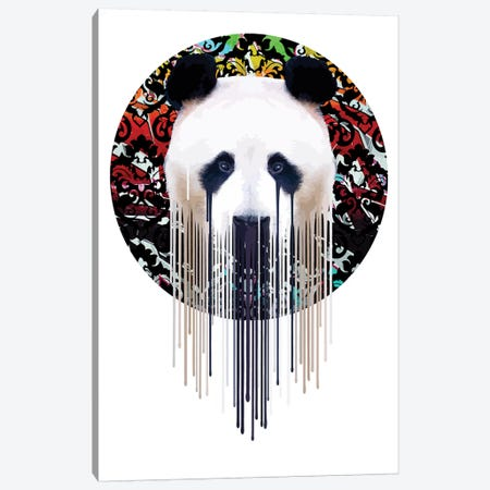 Panda Graf' 3-Piece Canvas #CMO35} by Carl Moore Art Print