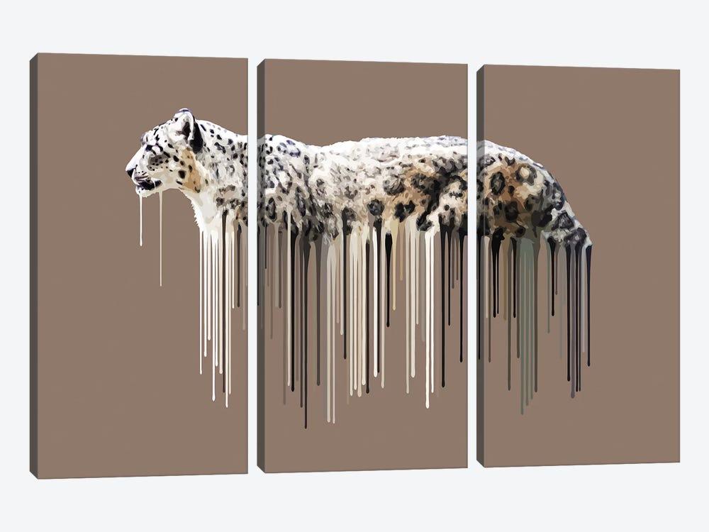 Snow Leopard by Carl Moore 3-piece Art Print