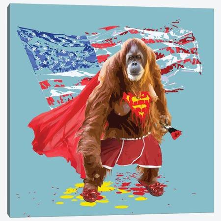 Super Simian Canvas Print #CMO37} by Carl Moore Art Print
