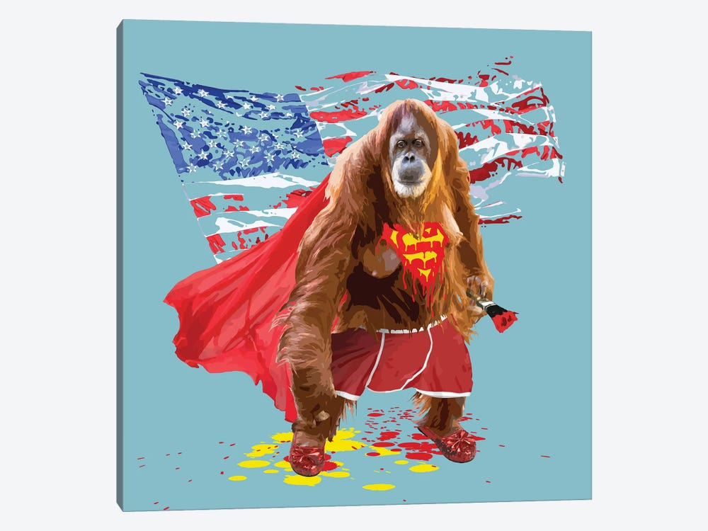 Super Simian by Carl Moore 1-piece Canvas Art