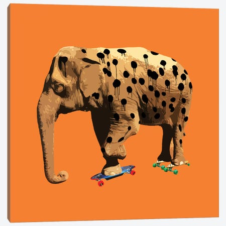 The Elephant Who Wanted To Be A Cheetah Canvas Print #CMO3} by Carl Moore Canvas Print