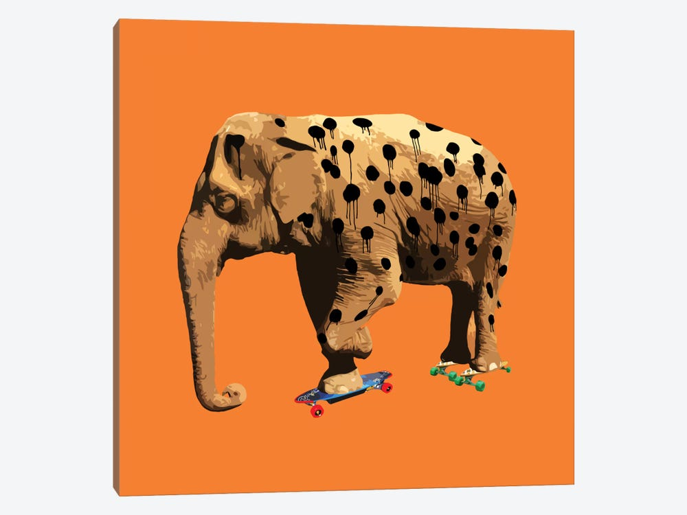 The Elephant Who Wanted To Be A Cheetah by Carl Moore 1-piece Canvas Artwork