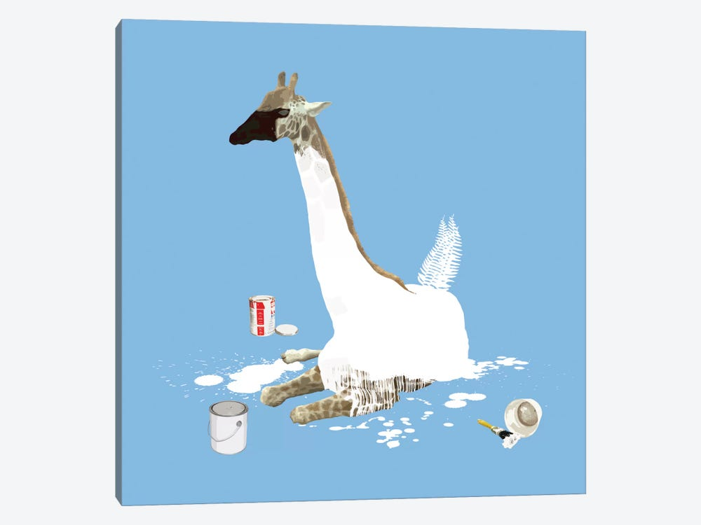 The Giraffe Who Wanted To Be A Swan by Carl Moore 1-piece Art Print