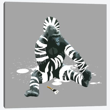 The Gorilla Who Wanted To Be A Zebra Canvas Print #CMO5} by Carl Moore Canvas Wall Art
