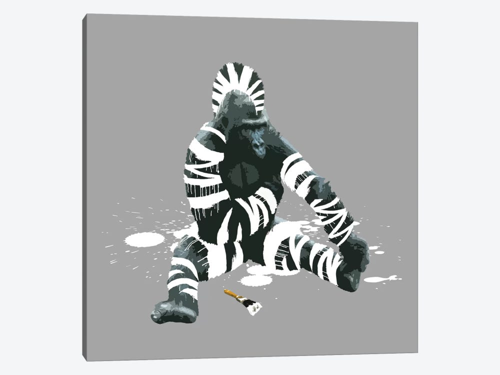 The Gorilla Who Wanted To Be A Zebra by Carl Moore 1-piece Canvas Artwork