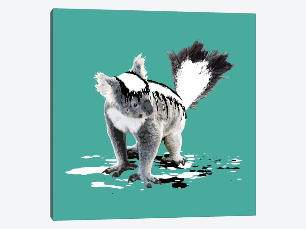 The Koala Who Wanted To Be A Skunk by Carl Moore 1-piece Canvas Print