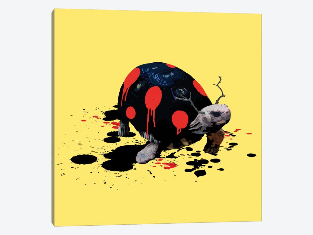 The Tortoise Who Wanted To Be A Ladybug by Carl Moore 1-piece Canvas Art