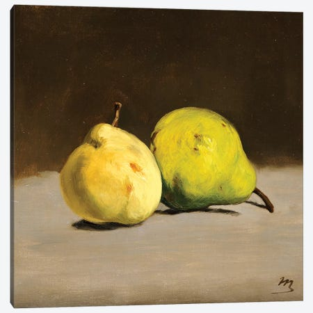 Two Pears, 1864 Canvas Print #CMR12} by Edouard Manet Canvas Print