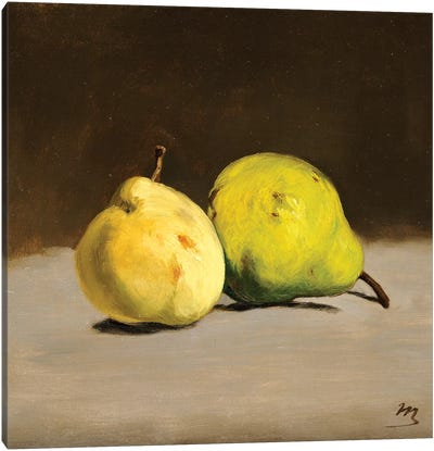 Two Pears, 1864 Canvas Art Print