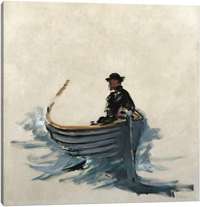 Study for The Escape of Rochefort, 1881 Canvas Art Print