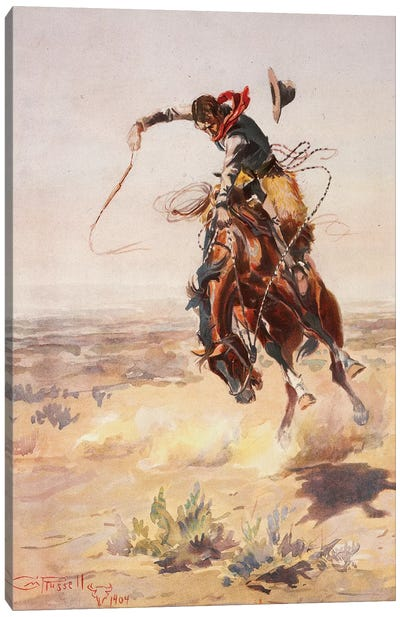 A Bad Hoss Canvas Art Print