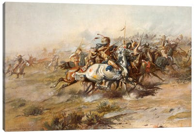 Custer Fight Canvas Art Print