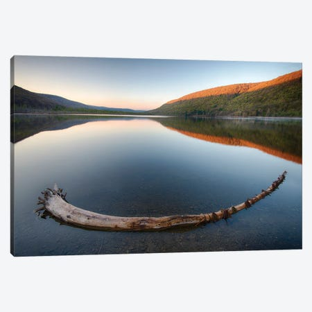 USA, New York State. Early spring morning on Labrador Pond. Canvas Print #CMU3} by Chris Murray Canvas Artwork