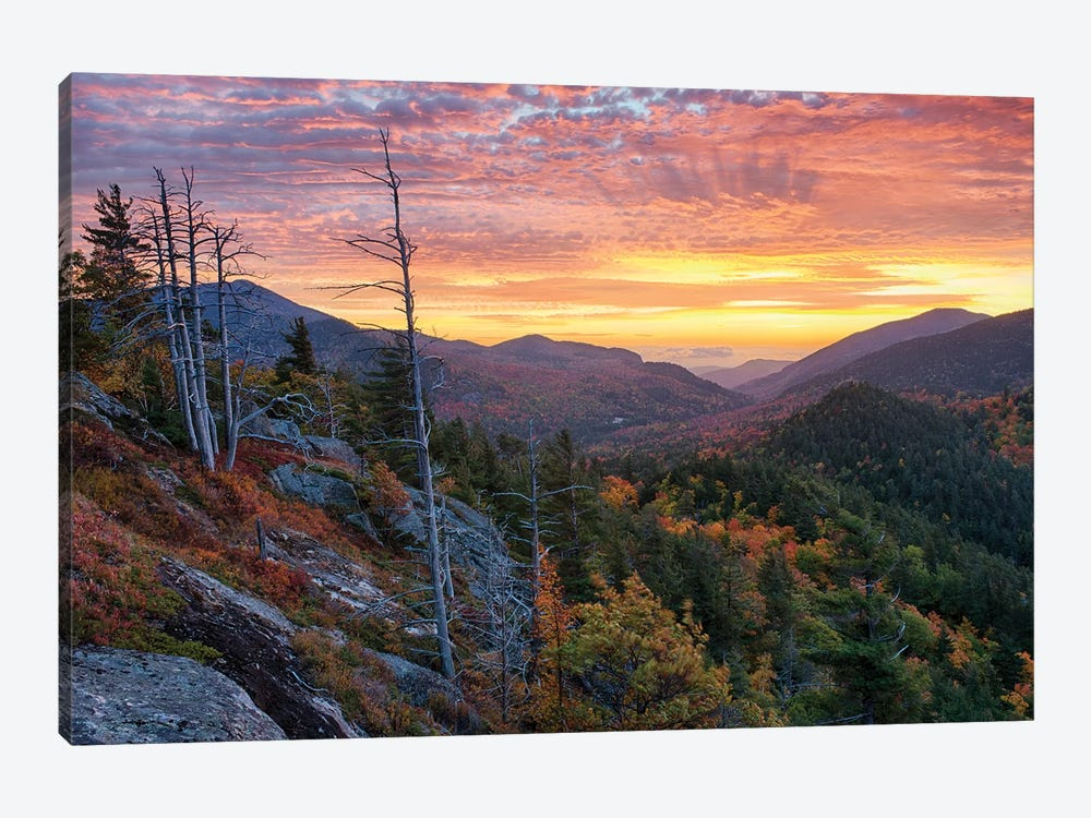 USA, New York State. Sunrise on Mount Baxter in autumn, Adirondack Mountains. by Chris Murray 1-piece Canvas Art
