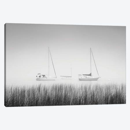 USA, New York State. Three sailboats, St. Lawrence River, Thousand Islands. Canvas Print #CMU6} by Chris Murray Canvas Art Print