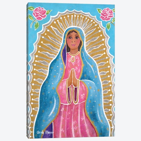 Guadalupe Of The Light Canvas Print #CMY100} by Candy Mayer Canvas Wall Art