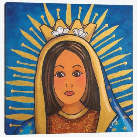 Guadalupe Portrait Canvas Print #CMY101} by Candy Mayer Canvas Wall Art