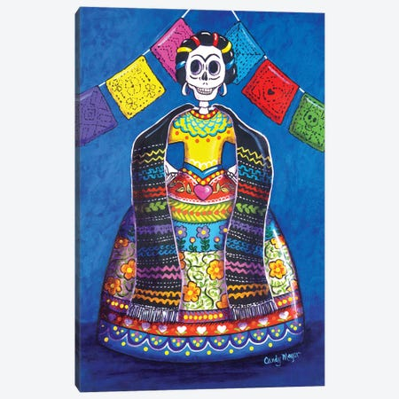 Papel Picado Frida Canvas Print #CMY105} by Candy Mayer Canvas Art Print
