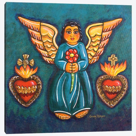 Sacred Hearts Angel Canvas Print #CMY107} by Candy Mayer Canvas Art Print