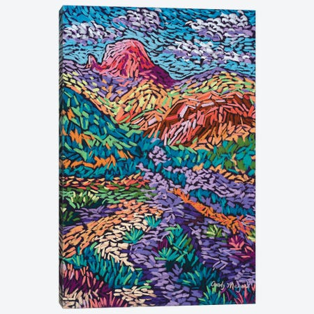 Colorful Mountains Canvas Print #CMY10} by Candy Mayer Canvas Artwork