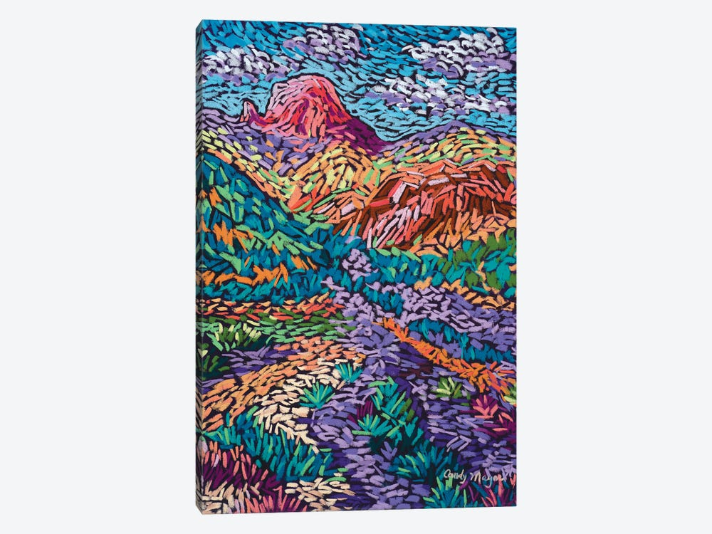 Colorful Mountains by Candy Mayer 1-piece Canvas Wall Art
