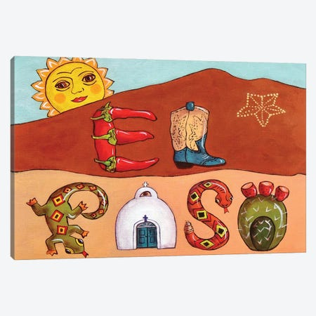 Desert Letters Canvas Print #CMY13} by Candy Mayer Canvas Wall Art