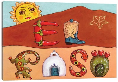 Desert Letters Canvas Art Print