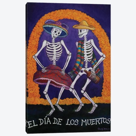 Dia De Los Muertos Canvas Print #CMY16} by Candy Mayer Art Print